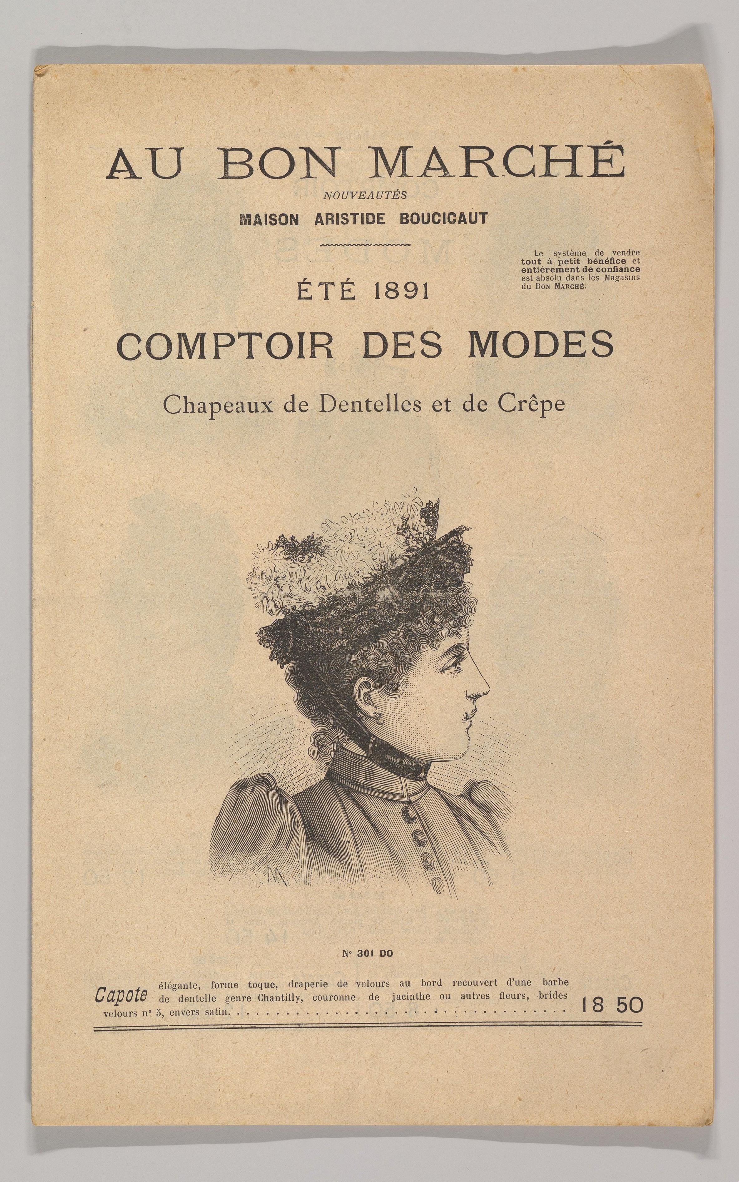 invaincu x nouvelle sélection modèles à la mode Au Bon Marché-Comptoir des Modes, Chapeaux de Dentelles et ...