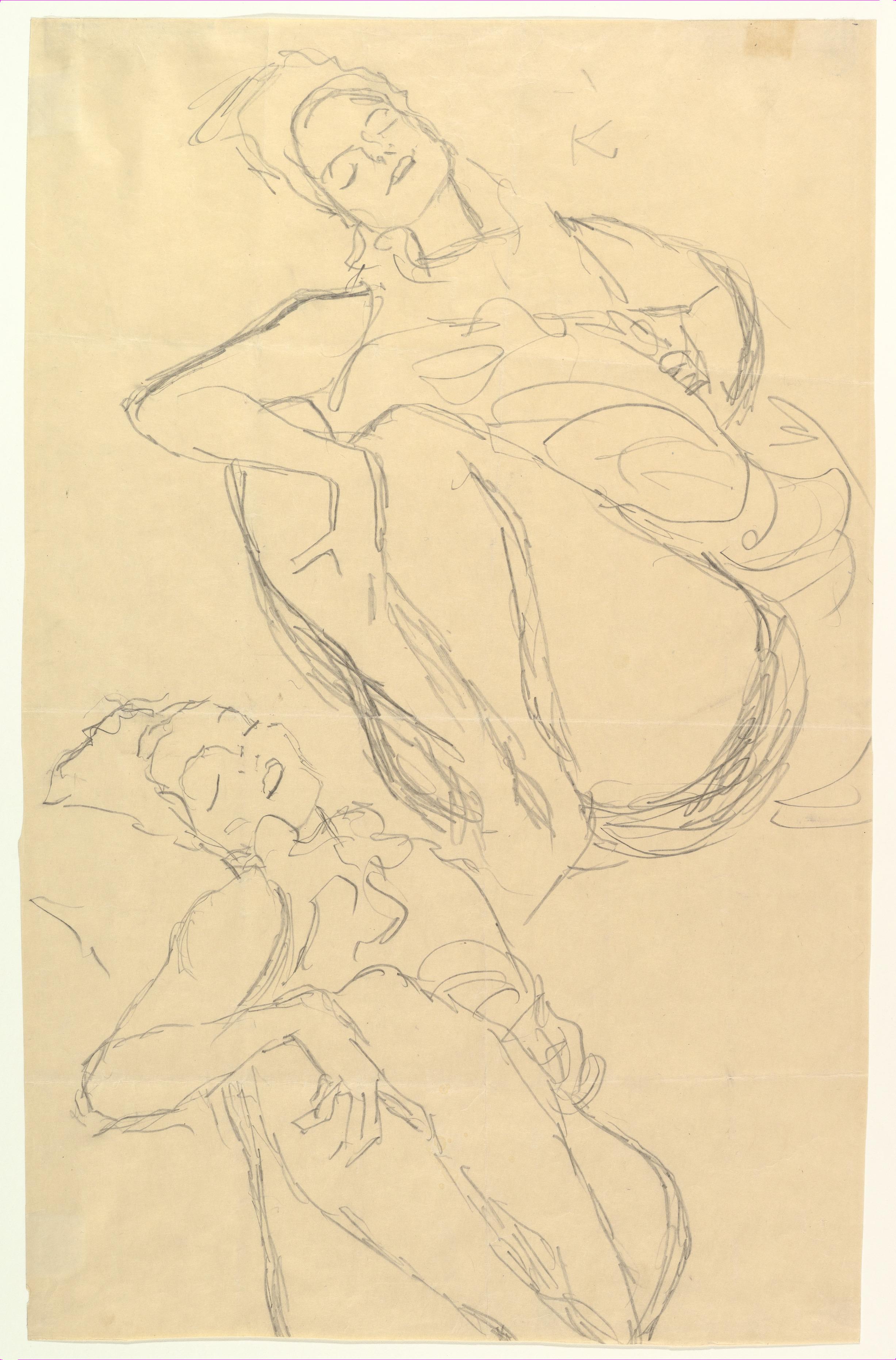 Gustav Klimt Austrian Nouveau 7 Female Nude ART