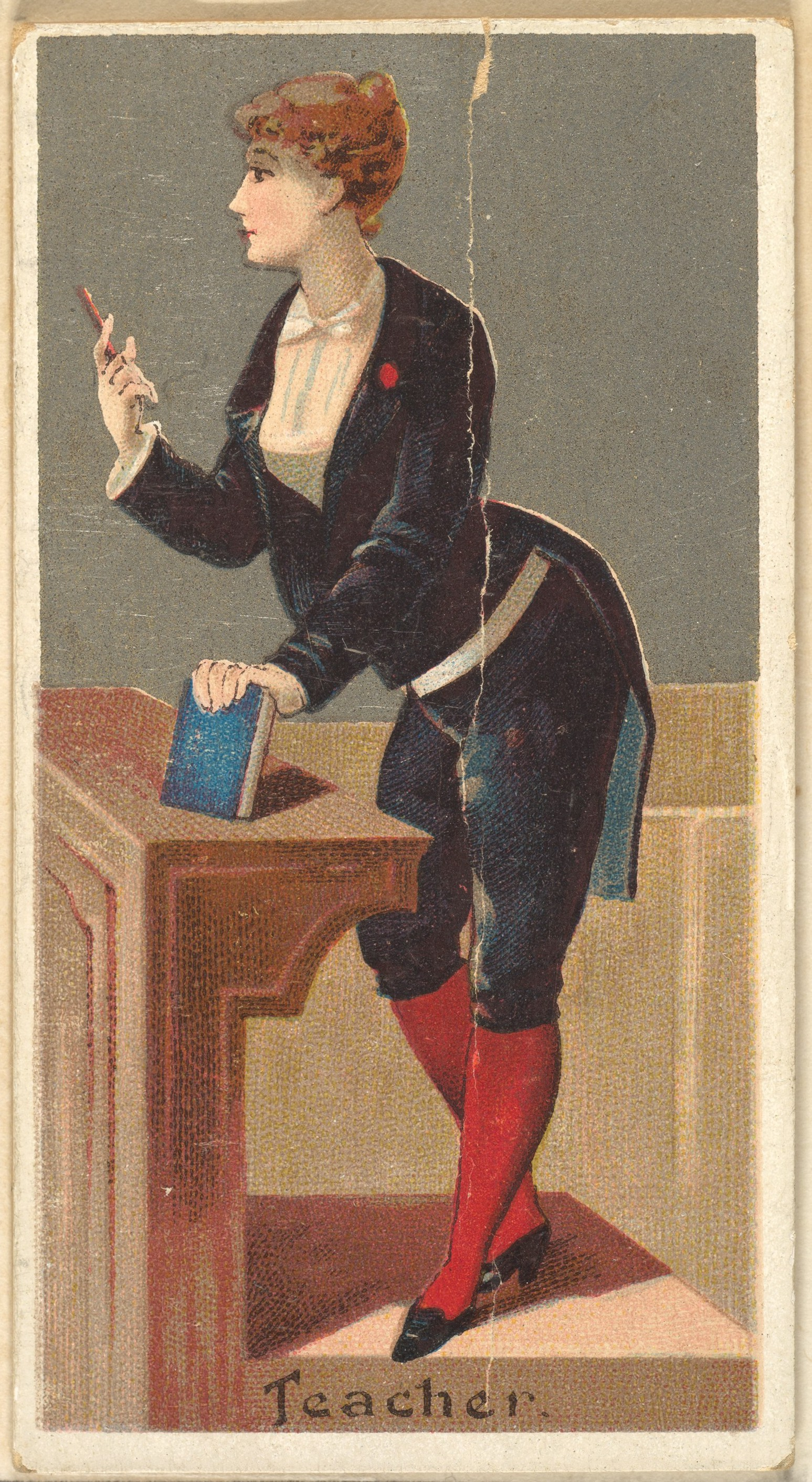 Teacher, from the Occupations for Women series (N166) for Old Judge and Dogs Head Cigarettes