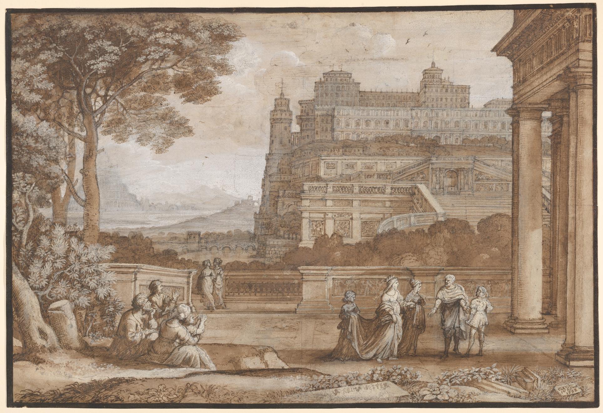 Claude Lorrain Claude Gellée Queen Esther Approaching The Palace Of Ahasuerus The Metropolitan Museum Of Art