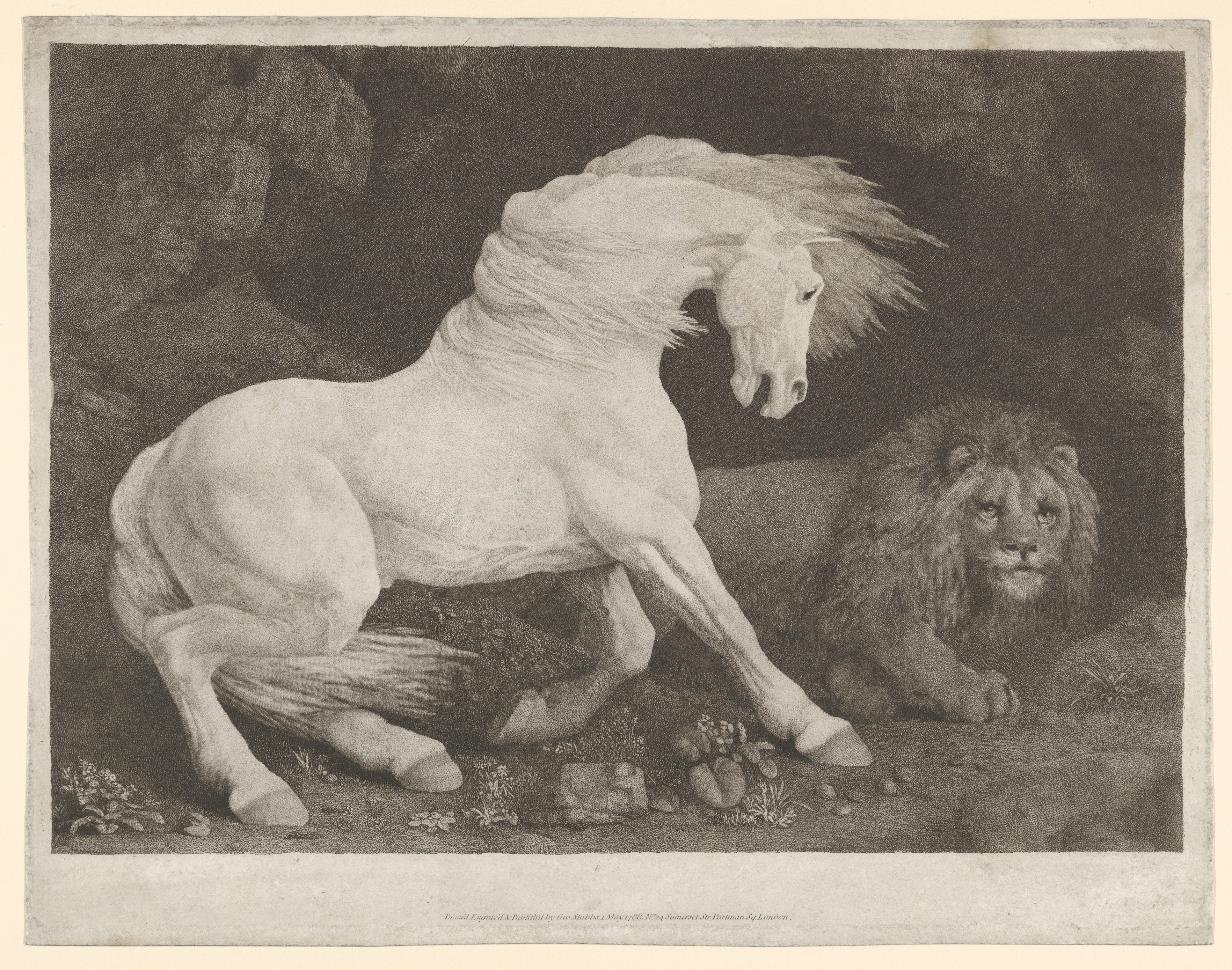 George Stubbs | A Horse Affrighted at a Lion | The Met
