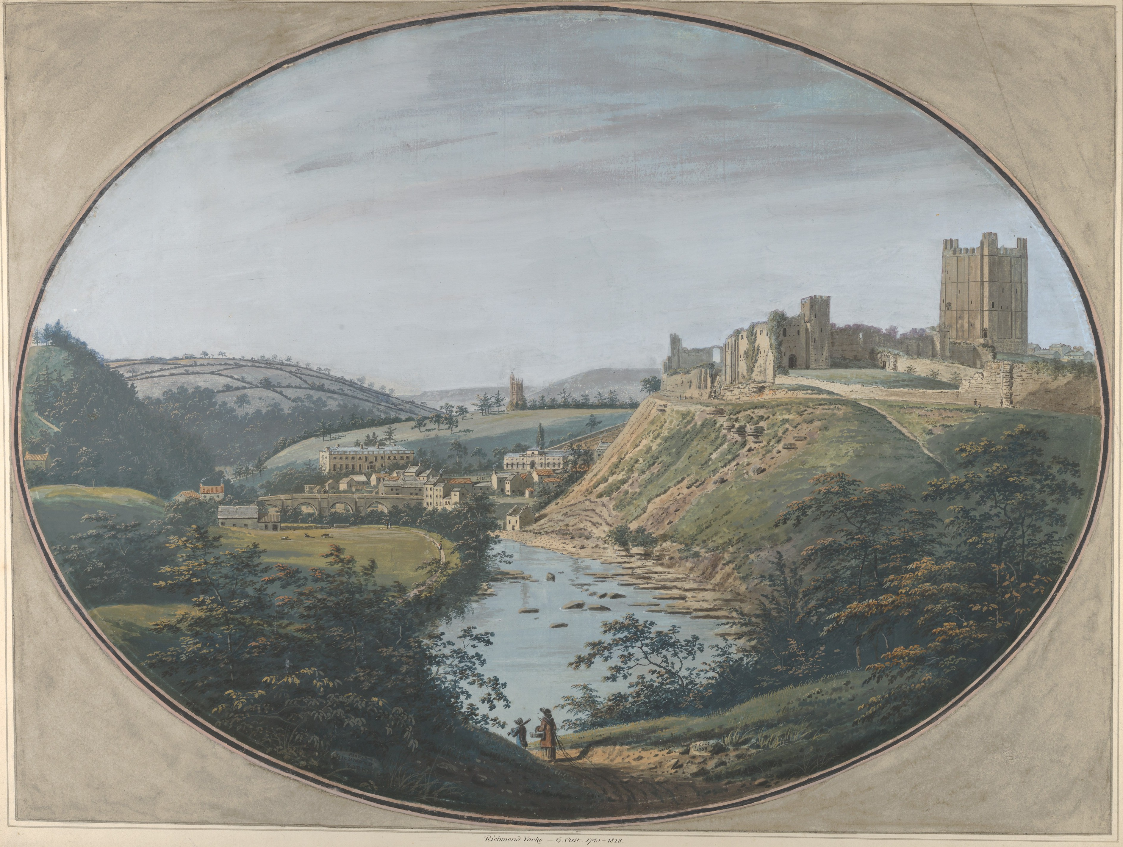 george cuit the elder | view of richmond, yorkshire, england | the met