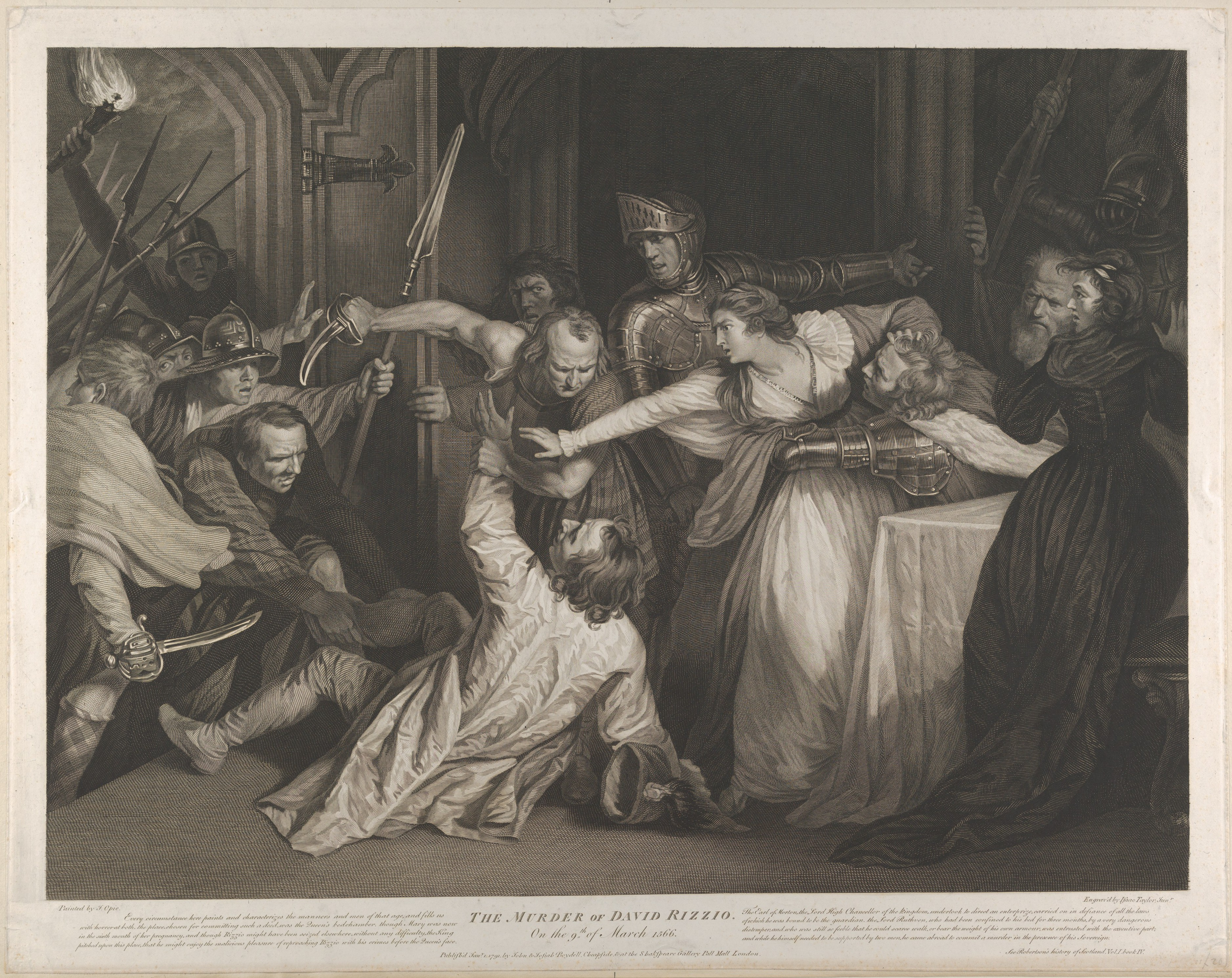 Isaac Taylor Jr Mary Queen Of Scots Witnessing The Murder Of David Rizzio The Metropolitan Museum Of Art