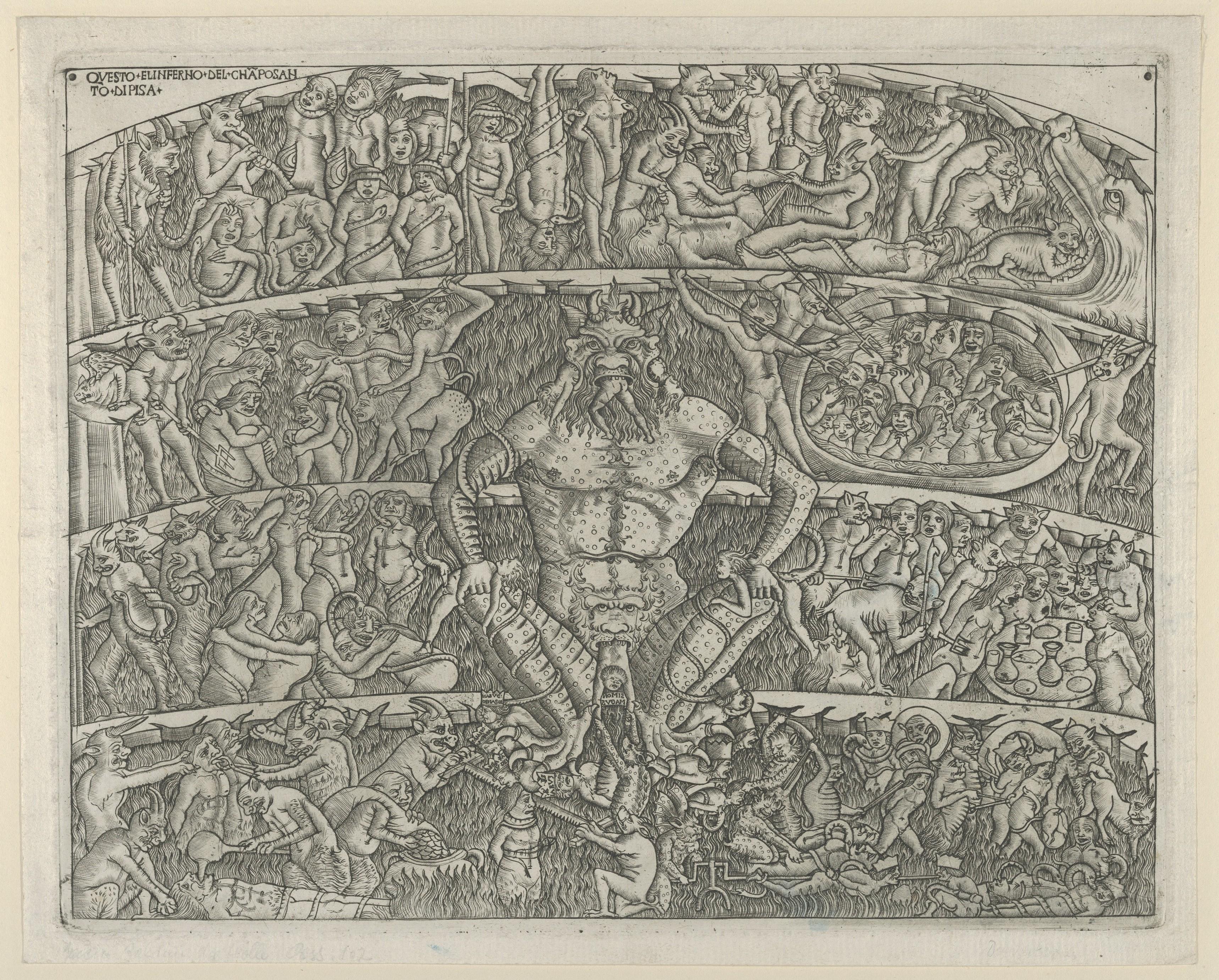 Circle Of Baccio Baldini The Inferno According To Dante