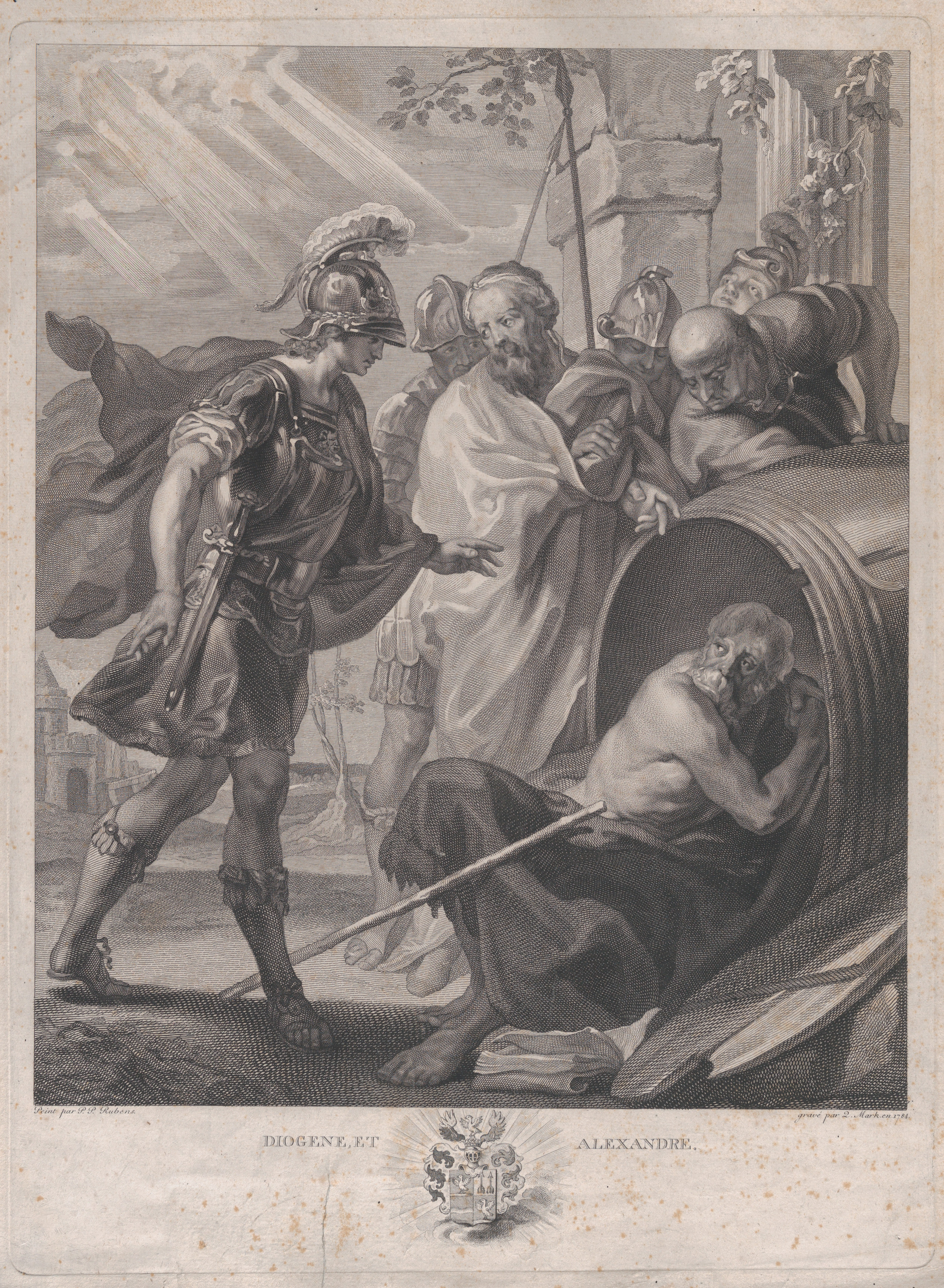 Quirin Mark The Meeting Of Diogenes Of Sinope And
