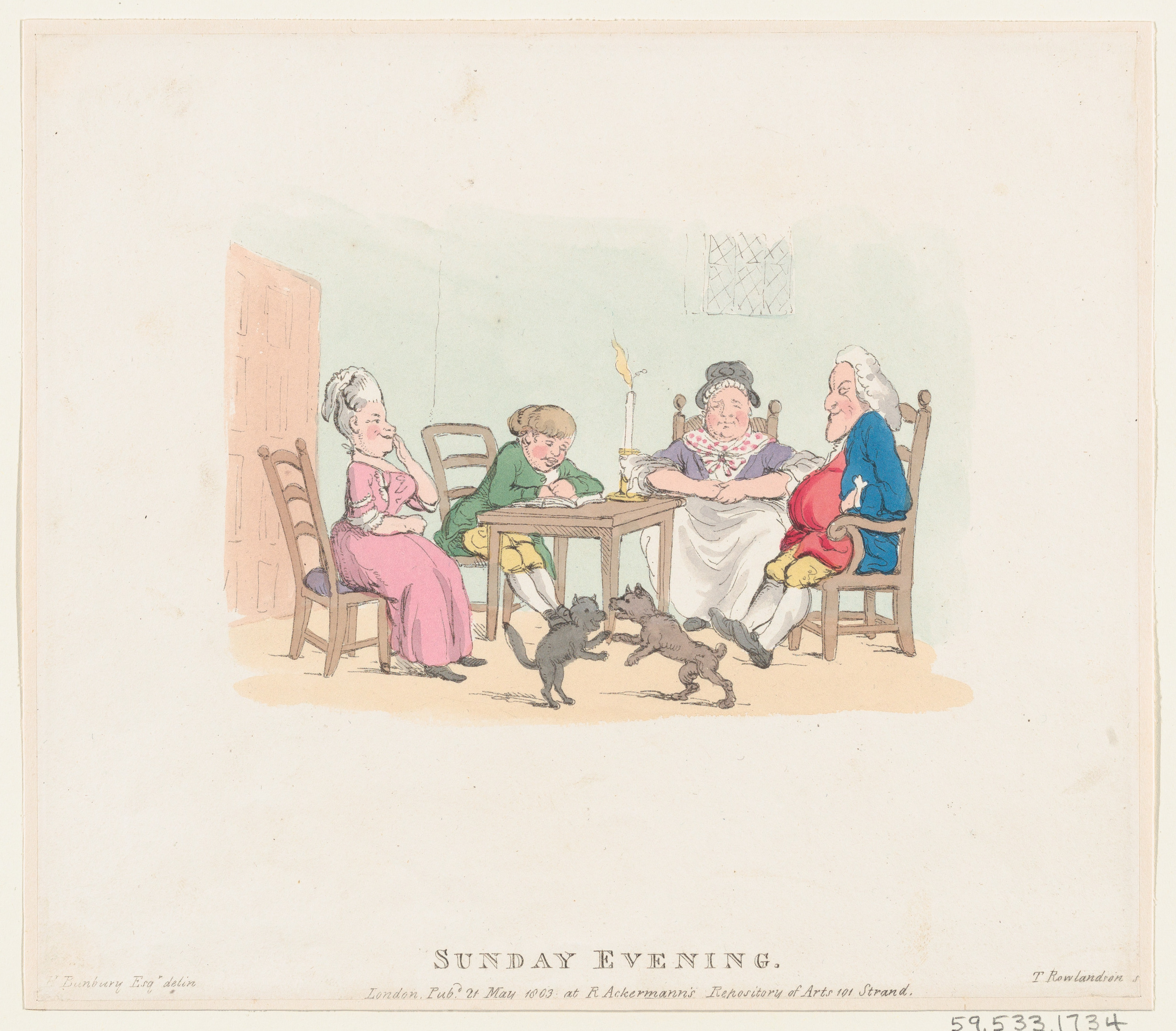 Thomas Rowlandson | Sunday Evening | The Met