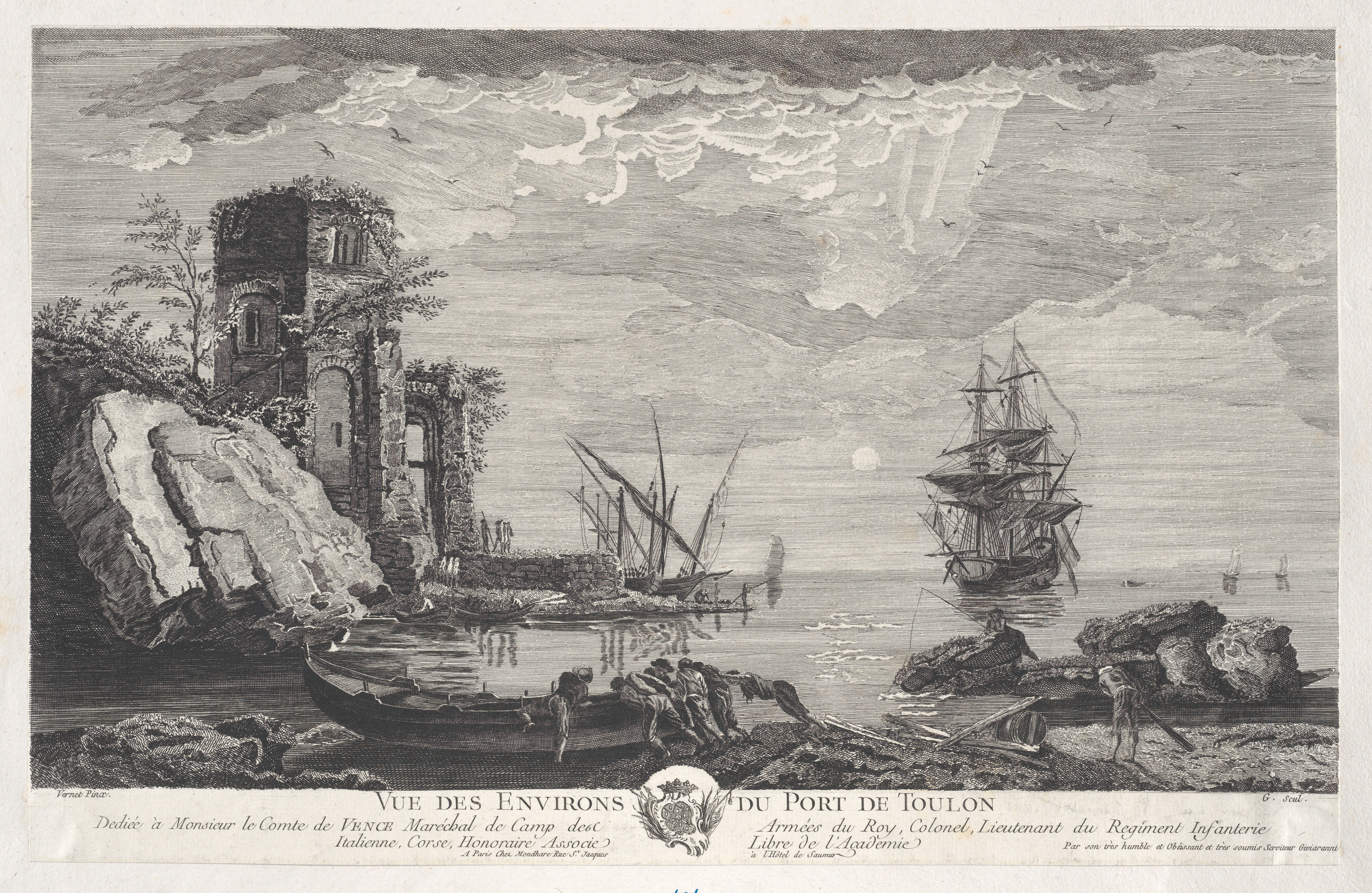 After Joseph Vernet   View of the Surroundings of the Port of Toulon ...