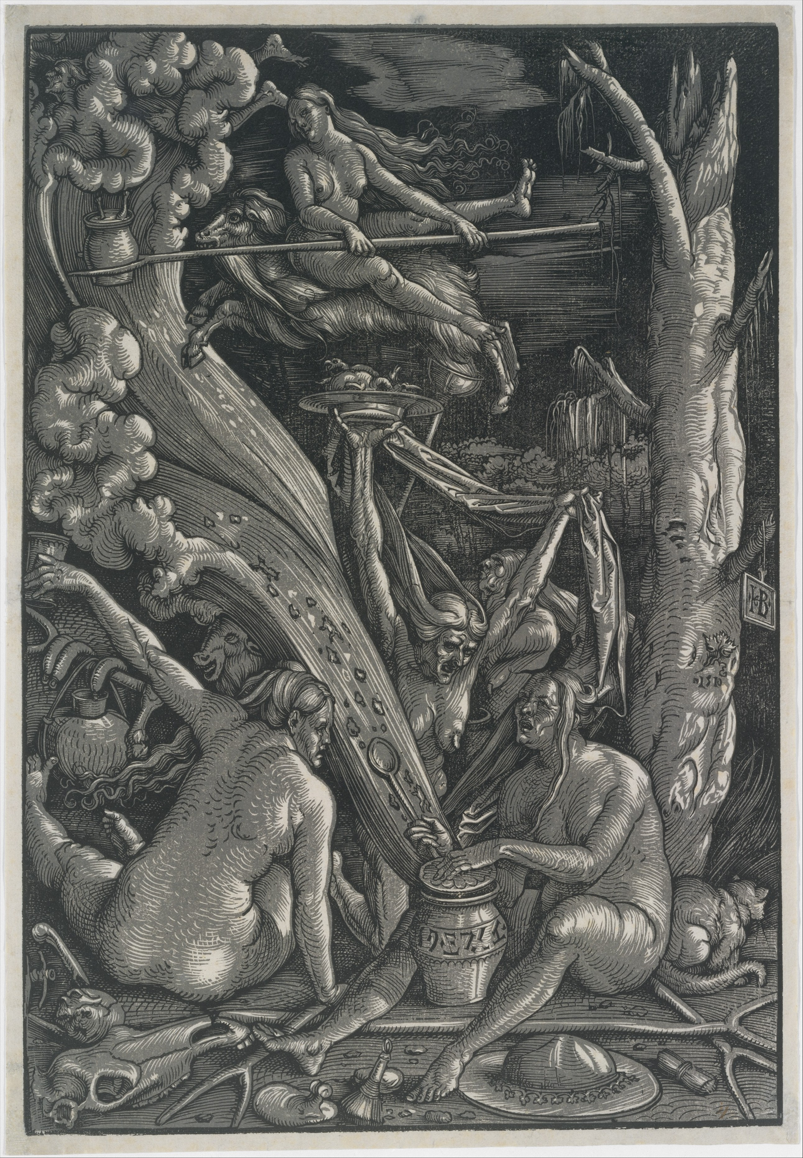 Naked girls from the workshop witch Hans Baldung Called Hans Baldung Grien The Witches The Metropolitan Museum Of Art