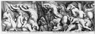 The Story of Niobe, Jan (Pietersz.) Saenredam (Netherlandish, Zaandam 1565–1607 Assendelft), Engraving; first state