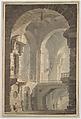 """""""Dark Prison (Carcere Oscura)"""", Joseph Mallord William Turner (British, London 1775–1851 London), Watercolor over graphite"""
