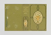 Two Years in the French West Indies, Alice Cordelia Morse (American, Ohio 1863–1961), Green cloth covered boards with gold, orange and green decoration