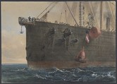 In the Bows of the Great Eastern: The Cable Broken and Lost, Preparing to Grapple, August 2nd, 1865, Robert Charles Dudley (British, 1826–1909), Watercolor over graphite with touches of gouache