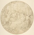 The Stoning of the Elders, Pseudo-Aert Ortkens (Flemish, 1510–1540), Pen and brown ink