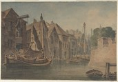 River at Norwich, Anonymous, British, 19th century, Watercolor