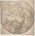 Kings, Bishops and Popes: design for ceiling., Francesco de Mura (Italian, Naples 1696–1782 Naples), Pen, ink and wash on paper