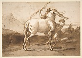 A Centaur and a Satyr, Giovanni Domenico Tiepolo (Italian, Venice 1727–1804 Venice), Pen and brown ink, brush and brown wash, over graphite or lead