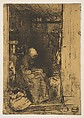 La Vielle aux Loques, James McNeill Whistler (American, Lowell, Massachusetts 1834–1903 London), Etching and drypoint; third state of four (Glasgow); printed in black ink on tan chine on off-white wove paper (chine collé)