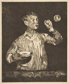 Boy with Soap Bubbles, Édouard Manet (French, Paris 1832–1883 Paris), etching and aquatint on laid paper, from 1905 Strölin edition