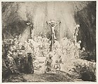 Christ Crucified between the Two Thieves: The Three Crosses, Rembrandt (Rembrandt van Rijn) (Dutch, Leiden 1606–1669 Amsterdam), Drypoint