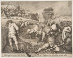 Summer (Aestas) from the series The Seasons, Pieter van der Heyden (Netherlandish, ca. 1525–1569), Engraving; first state of two