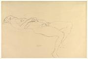 Reclining Nude, Gustav Klimt (Austrian, Baumgarten 1862–1918 Vienna), Graphite