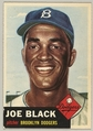 Card Number 81, Joe Black, Pitcher, Brooklyn Dodgers, from the series Topps Dugout Quiz (414-7), issued by Topps Chewing Gum Company, Issued by Topps Chewing Gum Company (American, Brooklyn), Commercial color lithograph