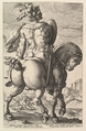 Titus Manlius, from the series The Roman Heroes, Hendrick Goltzius (Netherlandish, Mühlbracht 1558–1617 Haarlem), Engraving; second state