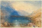 The Lake of Zug, Joseph Mallord William Turner (British, London 1775–1851 London), Watercolor over graphite