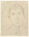 Head of a Man; Floral Background, Henri Matisse (French, Le Cateau-Cambrésis 1869–1954 Nice), Etching on chine collé