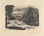 Landscape in the South of France, Pierre Bonnard (French, Fontenay-aux-Roses 1867–1947 Le Cannet), Lithograph