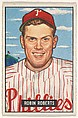 Robin Roberts, Pitcher, Philadelphia Phillies, from Picture Cards, series 5 (R406-5) issued by Bowman Gum, Issued by Bowman Gum Company, Commercial color lithograph