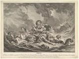 Arion, Augustin de Saint-Aubin (French, Paris 1736–1807 Paris), Etching and engraving; third state of three (Bocher)