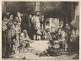 Christ Preaching, called La Petite Tombe, Rembrandt (Rembrandt van Rijn) (Dutch, Leiden 1606–1669 Amsterdam), Etching, engraving, and drypoint; first of two states