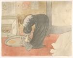 Filling a Tub, Henri de Toulouse-Lautrec (French, Albi 1864–1901 Saint-André-du-Bois), Lithograph printed in five colors on wove paper