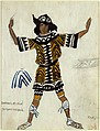 Costume design for a Brigand Boy in the Ballet 'Daphnis and Chloé', performed at the Théâtre du Châtelet in Paris, 1912, Léon Bakst (Russian, Grodno 1866–1924 Paris), Watercolor and lead pencil