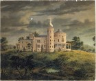 Ericstan, for John J. Herrick, Tarrytown, New York (perspective), Alexander Jackson Davis (American, New York 1803–1892 West Orange, New Jersey), Watercolor, ink, and graphite on paper