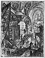 The Round Tower, from 'Carceri d'invenzione' (Imaginary Prisons), Giovanni Battista Piranesi (Italian, Mogliano Veneto 1720–1778 Rome), Etching, engraving, sulphur tint or open bite, burnishing; first state of four (Robison)