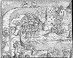 Tabula Cebetis, David Kandel (German, ca. 1520–ca. 1596), Woodcut; second state of two