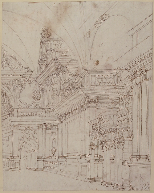 Antonio galli bibiena sketch of a palace interior the met