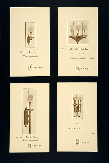Set of Advertising Cards, Issued by Charles Rohlfs (American, Brooklyn, New York 1853–1936 Buffalo, New York), Half-tone commercial process, printed in brown ink on glossy wove paper