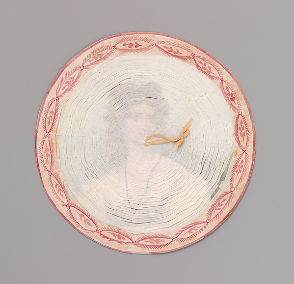 Cobweb Valentine, Anonymous  , American or British, 19th century, Watercolor, cut tissue on board