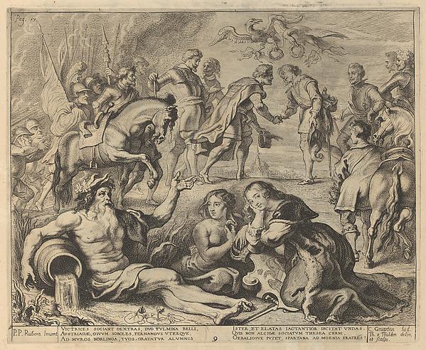 "Pompa Introitus Honori .. Ferdinandi Austriaci ... "" (Entry of Cardinal-Infante Ferdinand into Antwerp, April 17, 1635), Designed by Peter Paul Rubens (Flemish, Siegen 1577–1640 Antwerp), Engraving"