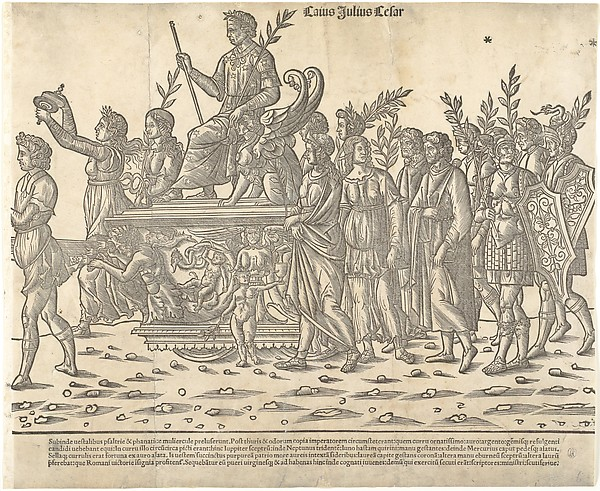 Caesar riding on his chariot, from 'The Triumph of Caesar', Jacob of Strasbourg (Italian School, born Alsace, active Venice, 1494–1530), Woodcut