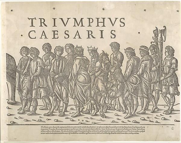 The Triumph of Caesar, Jacob of Strasbourg (Italian School, born Alsace, active Venice, 1494–1530), Woodcut in eleven parts