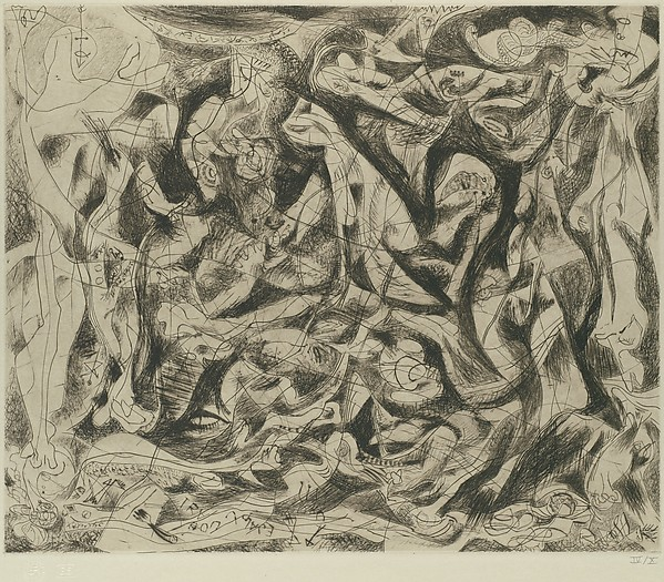 Untitled, Jackson Pollock (American, Cody, Wyoming 1912–1956 East Hampton, New York), Engraving and drypoint