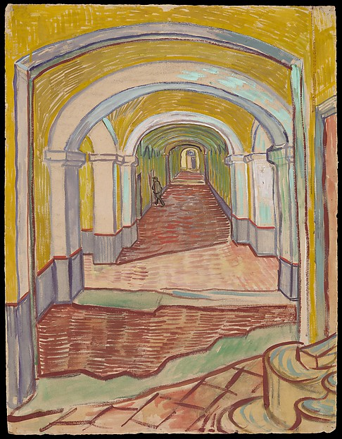 Vincent van gogh corridor in the asylum the met corridor in the asylum vincent van gogh dutch zundert 18531890 auvers sciox Image collections