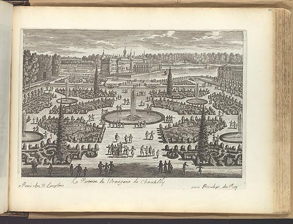Le Parterre de l'Orangerie de Chantilly, Adam Perelle (French, Paris 1640–1695 Paris), Etching