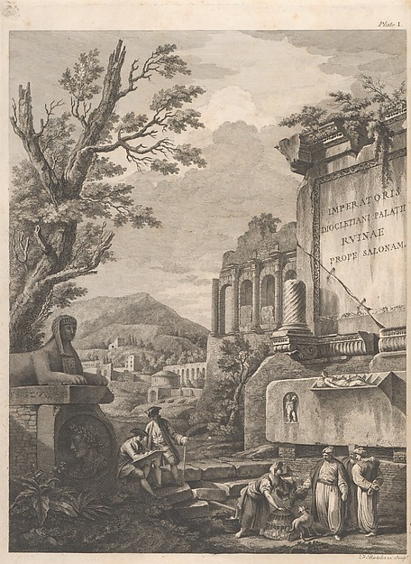 Ruins of the Palace of the Emperor Diocletian at Spalatro in Dalamatia, Robert Adam (British, Kirkcaldy, Scotland 1728–1792 London), Illustrations: etching and engraving