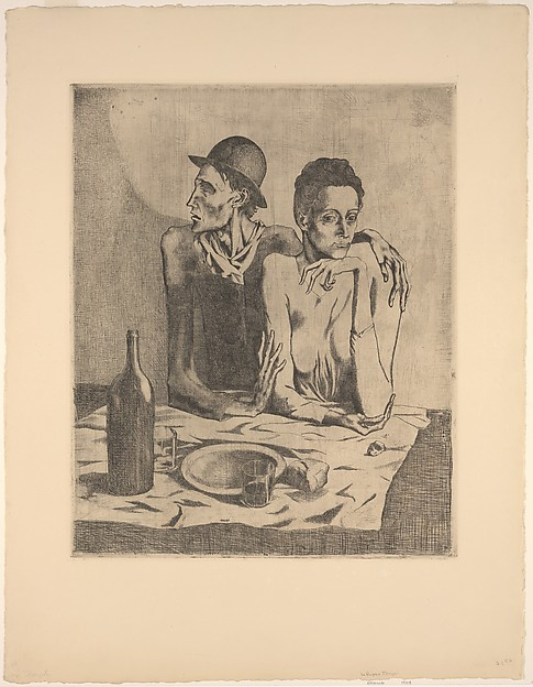 The Frugal Repast, Pablo Picasso (Spanish, Malaga 1881–1973 Mougins, France), Etching