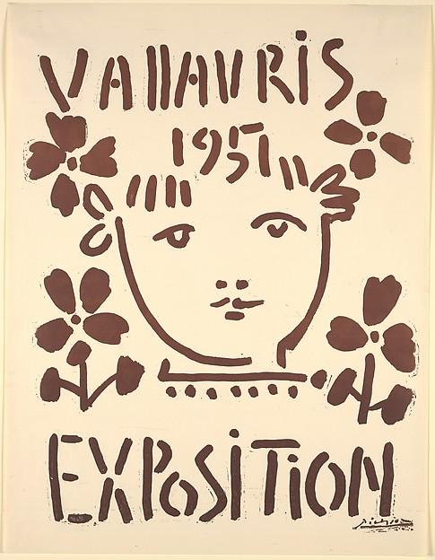 Vallauris Exhibition 1951, Pablo Picasso (Spanish, Malaga 1881–1973 Mougins, France), Linoleum cut